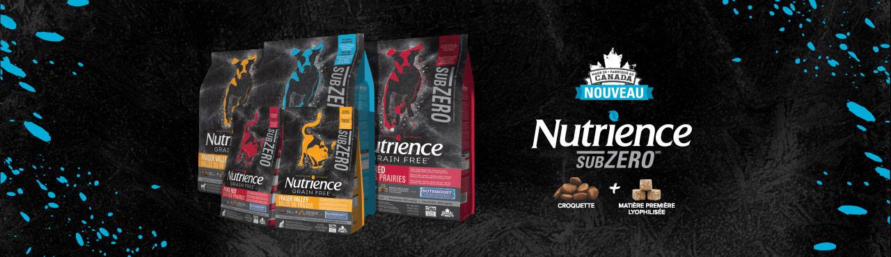 Nutrience Subzero pour chiens et pour chats