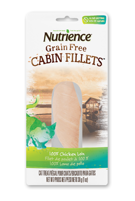 Nutrience Grain Free Cat Treats - 100% Chicken Cabin Fillets