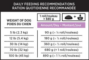 Nutrience Subzero frozen dog rolls lamb and salmon